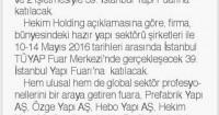 Tünaydın Gazetesi<br /> 11 Mayıs 2016