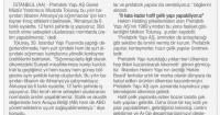 Tünaydın Gazetesi<br /> 13 Mayıs 2016