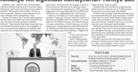 Tünaydın Gazetesi<br /> 14 Mayıs 2016