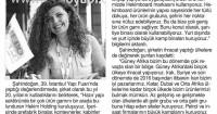 Yeni Çağrı Gazetesi<br /> 16 Mayıs 2016