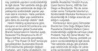 Tünaydın Gazetesi<br /> 01 Haziran 2016