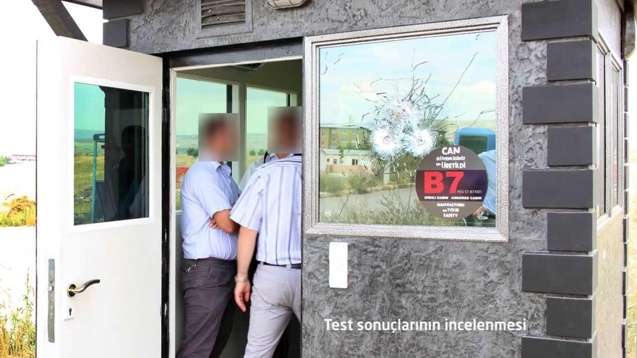 Zırhlı Güvenlik Kabini Balistik Test Videosu